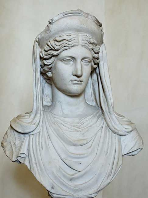Demeter. Marble, Roman copy after a Greek original from the 4th century BC.