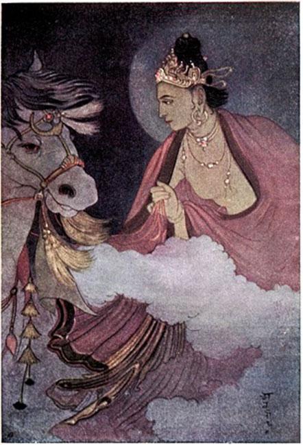 Departure of Prince Siddhartha.