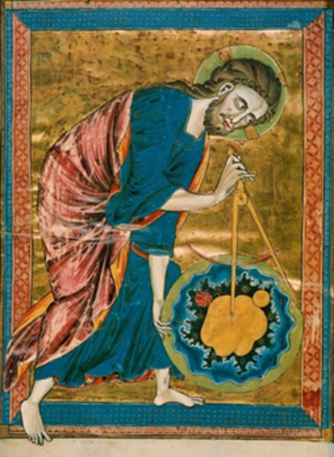 Depiction of God as a geometer from a 13th century Bible. (Ragesoss / Public Domain)