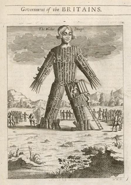 Depiction of a Wicker Man, stocked with victims to be burnt. (Archivist/ Adobe Stock)