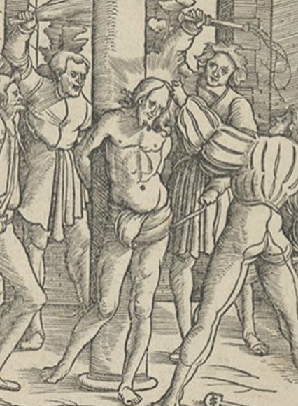 A depiction of Jesus Christ being scourged. (Hans Leonhard Schäufelein / CC0)