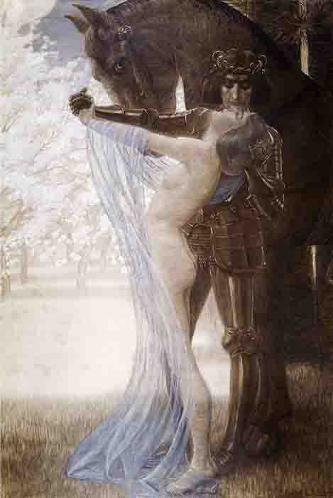 A depiction of Lancelot and Guinevere by Wilhelm List. (Public domain)