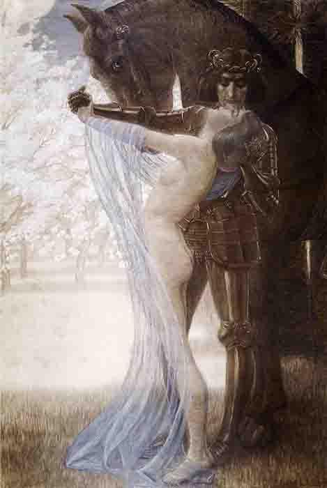Una representación de Lancelot y Guinevere por Wilhelm List. (Dominio público)