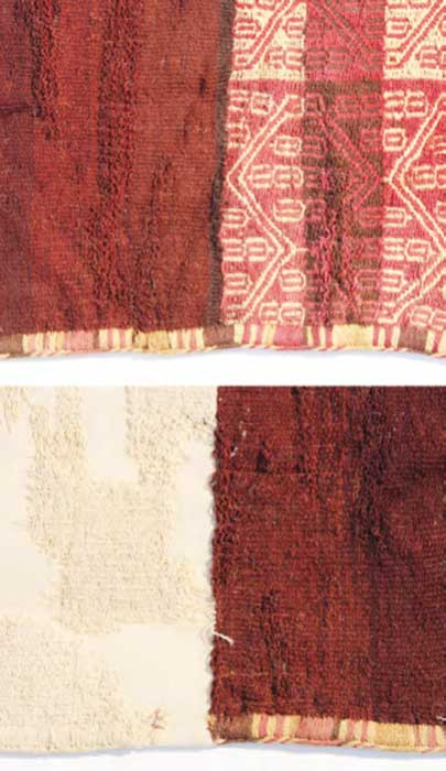 Detail of the restored textiles. (Museo Regional de Iquique)