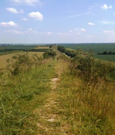 The Devil's Dyke, near Exning, where King Anna is believed to have been in 631