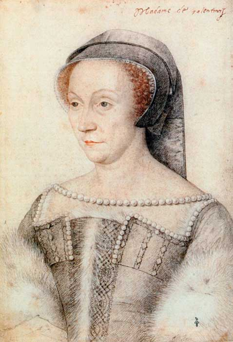 Diane de Poitiers was Henry II's chief mistress.