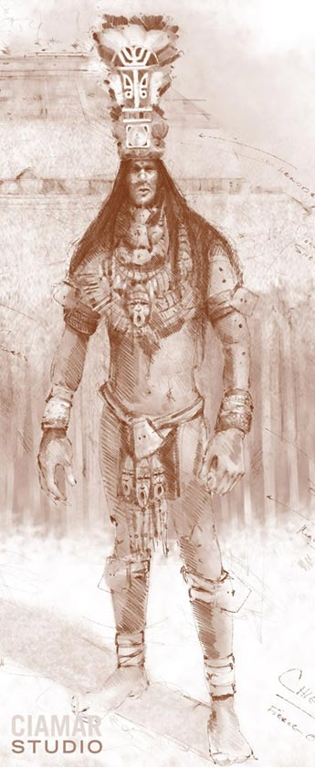 Digital sketch, ancient Florida giant.