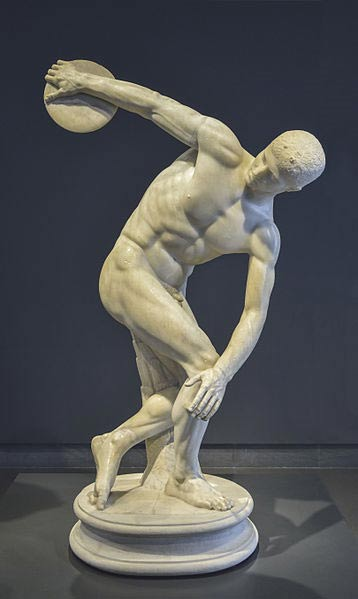 Discobolus in National Roman Museum Palazzo Massimo alle Terme
