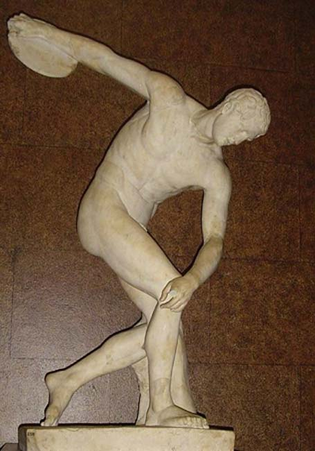 Discobolus. Marble, Roman copy after a bronze original of the 5th century BC. From the Villa Adriana near Tivoli, Italy. (Valerio Perticon/CC BY SA 3.0)