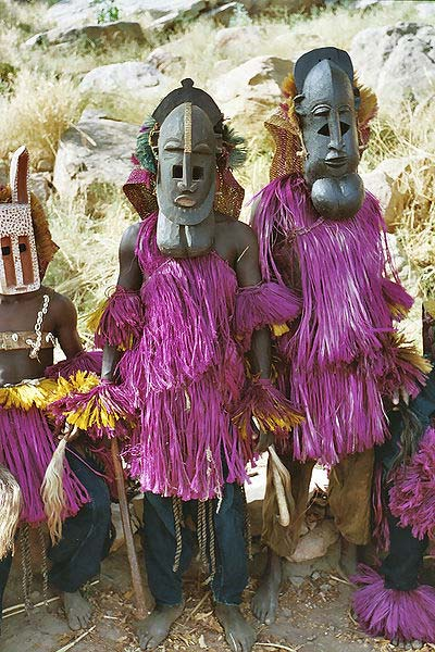Dogon men in their ceremonial attire. (Devriese/CC BY 3.0)