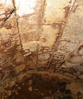 Domed ceiling of the third chamber of the Amphipolis Tomb