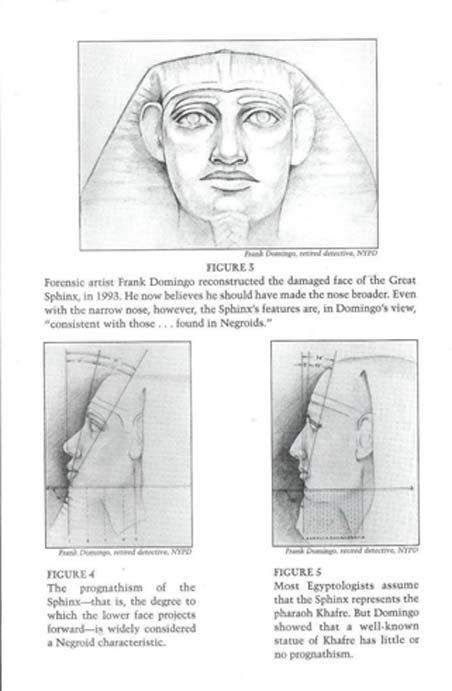 Domingo Head. Photo composite of Sphinx head, by Frank Domingo, NY Police Department. (Image via author).