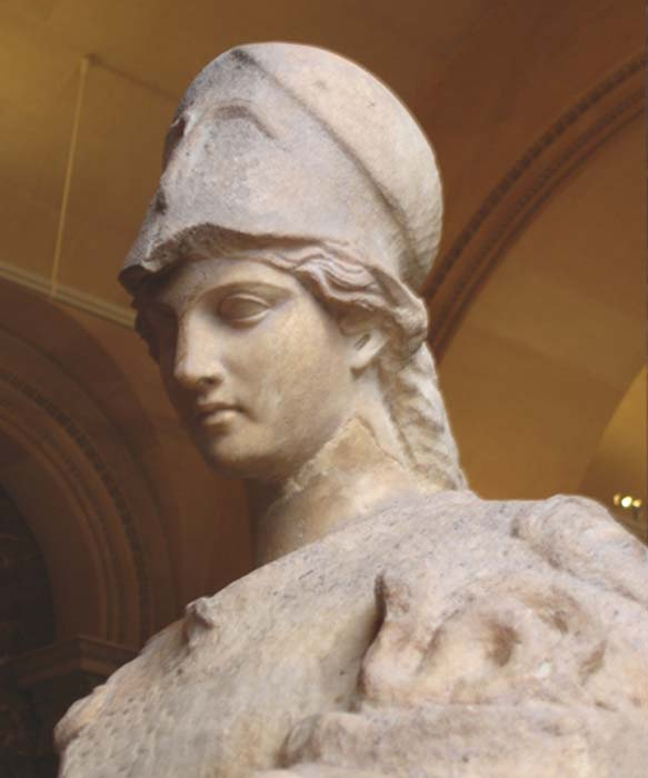 According to Suetonius, Domitian worshipped Minerva as his protector goddess with superstitious veneration. In a dream, she is said to have abandoned the emperor prior to the assassination. (Marie-Lan Nguyen / Public Domain)