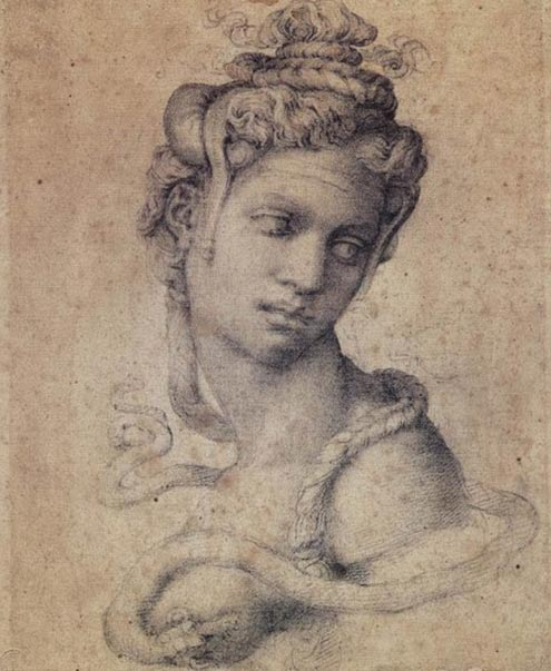 Drawing of Cleopatra by Michelangelo (1534)