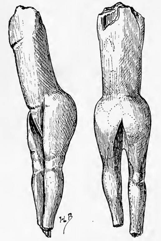 "Drawing of La Vénus impudique or Venus Impudica (""immodest Venus"") – the statuette which gave this class of figurine its name."
