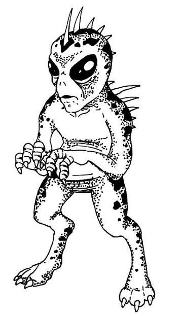 Drawing of a Chupacabra
