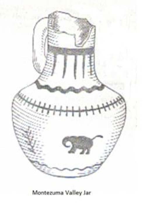Drawing of elephant depicted on a Montezuma jar. Image Credit: Neil Harris. (Author provided)
