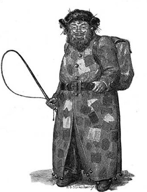 Drawing of the Belsnickel by Ralph Dunkleberger.