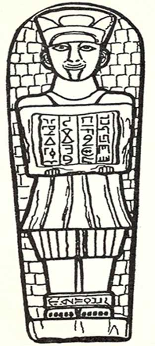 Drawing of the Brazil tablet. (Author provided)