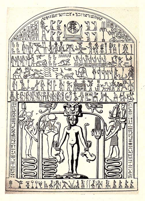 Drawing of the stela.