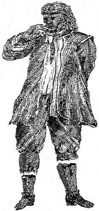 Drawing of Fet Mats Israelsson from Leyel, 1722 & Wiman, 1941. (James St. John/CC BY 2.0)