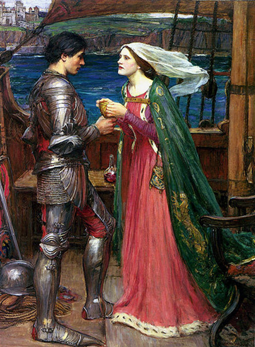 "During the 12th century, Arthur's character began to be marginalized by the accretion of ""Arthurian"" side-stories such as that of Tristan and Iseult, by John William Waterhouse. (Luca Z. / Public Domain)"