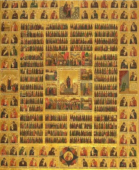 Eastern Orthodox calendar of Saints.