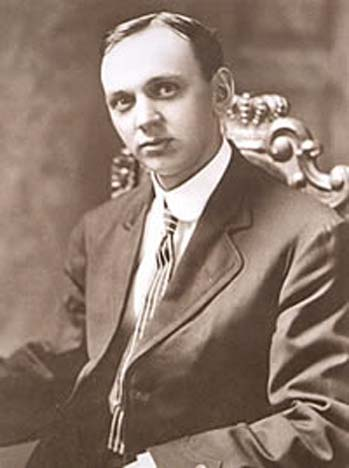 Edgar Cayce in October 1910, when this photograph appeared on the front page of The New York Times.