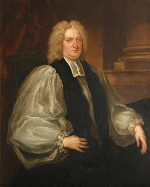 A portrait of Edmund Gibson, the bishop of London, attributed to English portraitist John Vanderbank. (Bodleian Library, University of Oxford)