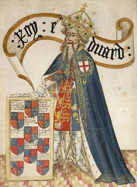 Edward III as head of the  Order of the Garter. (Public Domain)