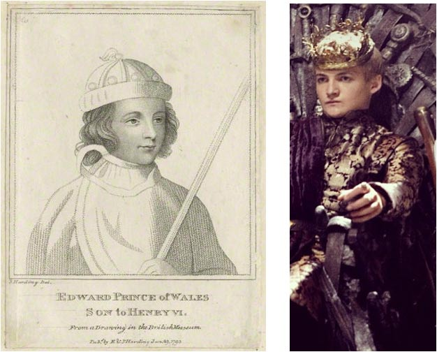 Edward of Westminster (Wikimedia Commons) and  Joffrey (Bora Bora/Flickr)