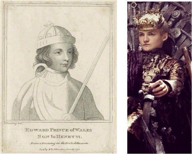 Edward of Westminster (Wikimedia Commons) and  Joffrey (Bora Bora/Flickr)