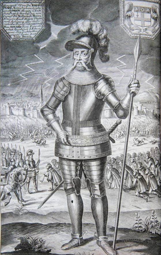 This plate depicts Edward on the battlefield, during the Hundred Years' War with France. The date shown is Black Monday