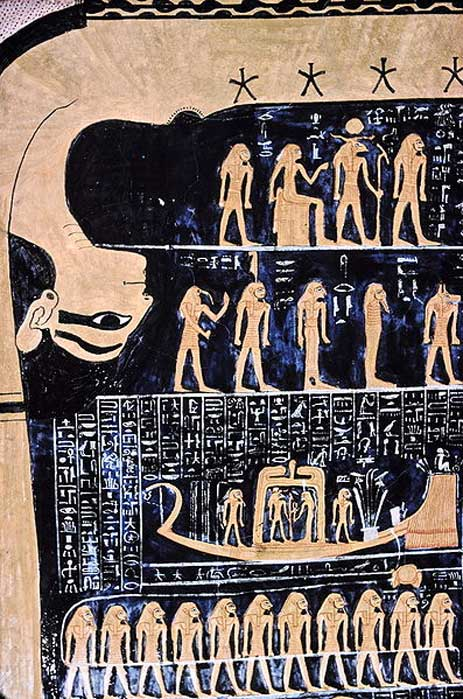 Nut, Egyptian goddess of the sky in the tomb of Ramses VI