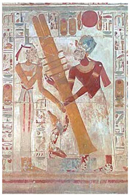 (Egyptian painting. Courtesy author.)
