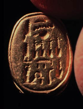 Egyptian scarab naming Queen Nefertiti