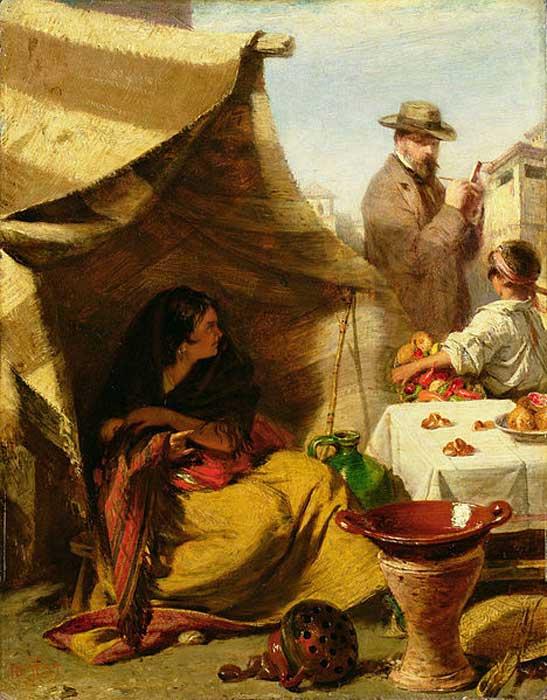 'El mal de ojo' (The Evil Eye) (1859) by John Phillip.