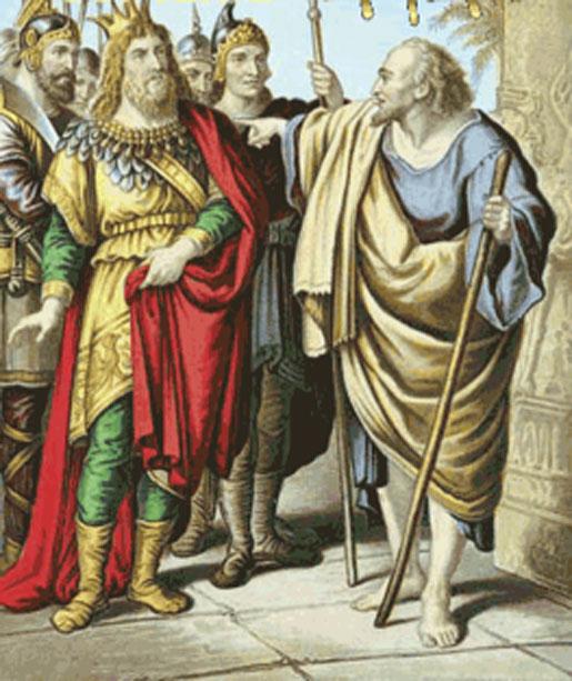 Elijah and King Ahab.