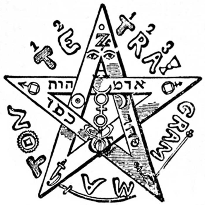 Éliphas Lévi's Tetragrammaton pentagram which he considered to be a symbol of the microcosm, or human being. (Public Domain)