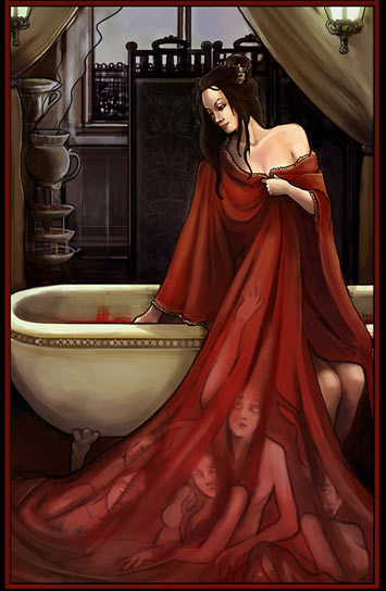 Elizabeth Bathory used to bathe in the blood of virgins