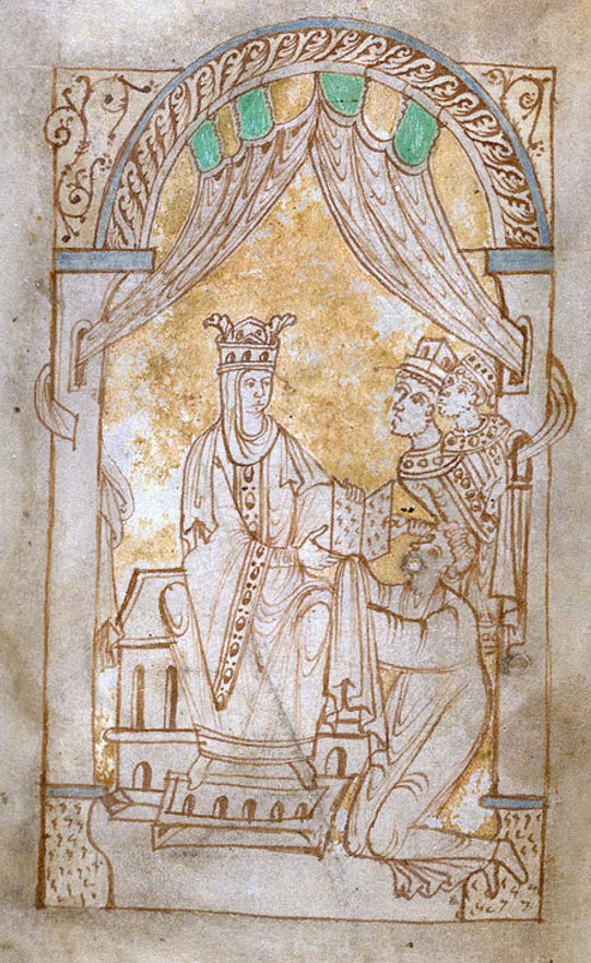 Emma Receiving The Encomium, In 'The Encomium Of Queen Emma' MS 33241