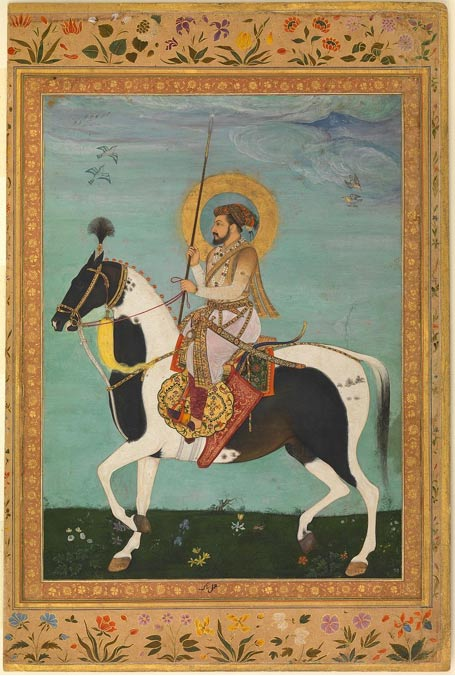 Fifth Mughal Emperor of India, Shah Jahan (Shahabuddin Muhammad Shah Jahan) on horseback