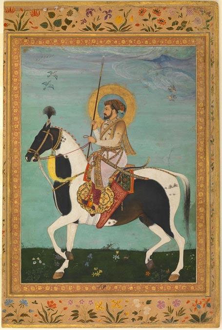 Fifth Mughal Emperor of India, Shah Jahan (Shahabuddin Muhammad Shah Jahan) on horseback