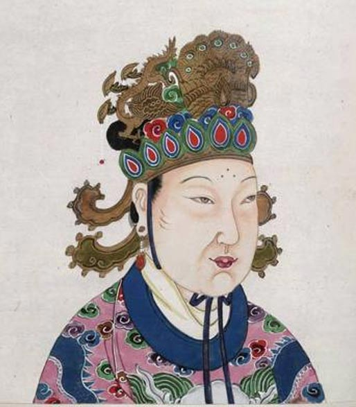Empress Wu (Wu Zetian) Reign: 16 October 690 to 22 February 705 AD.