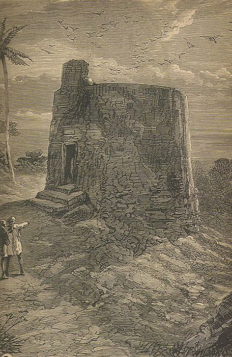 Engraving of Tower of Silence, Mumbai.