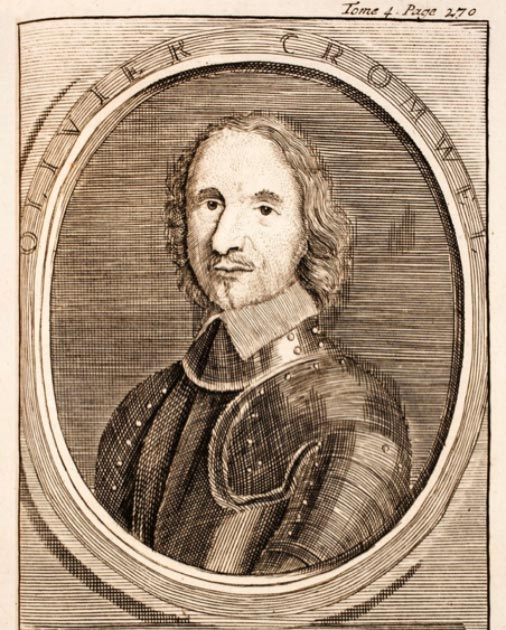 Engraving of a young Oliver Cromwell. (Hansmuller / Public Domain)