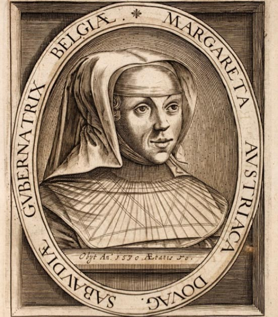 Engraving of Margaret of Austria of the Habsburg dynasty. (Hansmuller / Public Domain)