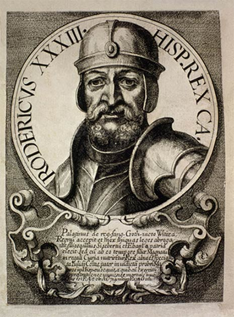 Engraving of King Roderic, the last Visigoth king of Hispania. (Public domain)