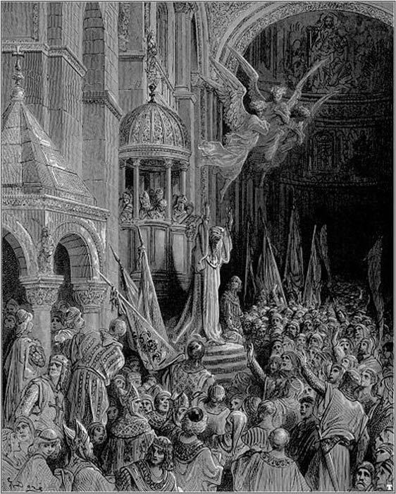 Doge Enrico Dandolo preaching the Crusade. (Public Domain)
