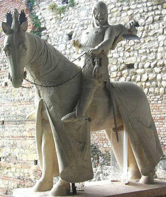 Equestrian Statue of Cangrande della Scala , Museo di Castelvecchio , Verona.